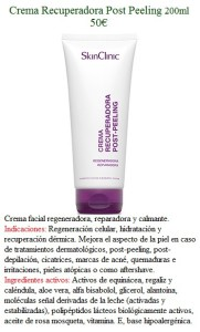 Crema Recuperadora Post Peeling 200ml