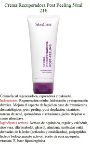 Crema Recuperadora Post Peeling 50ml